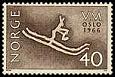Ryt na znaczku pocztowym, Norwegia (8.02.1966)