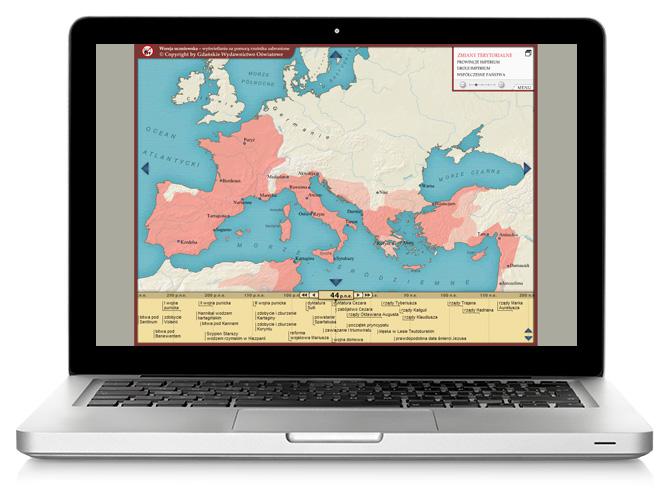 Imperium rzymskie. Mapainteraktywna