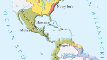 Posiadłości państw europejskich na kontynencie amerykańskim u schyłku XVII w.