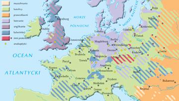 Podziały religijne i wyznaniowe Europy w XVI w.