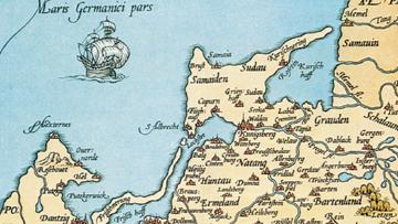 Mapa Prus z 1542 r.