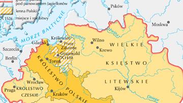 Posiadłości Jagiellonów ok. 1500 r.