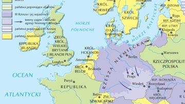 Europa w przededniu wybuchu II wojny światowej.