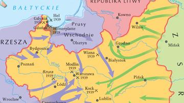 Inwazja niemiecka i radziecka na Polskę.