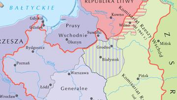 Ziemie II Rzeczpospolitej pod okupacją niemiecką i sowiecką.