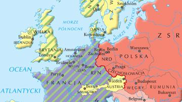 Podział Europy na bloki polityczno-gospodarcze pod koniec lat 50.